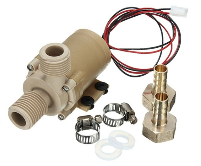 f53872a1144 High Temperature Resistance DC 12V Solar Hot Cooling Water Circulation Pump  Brushless Motor Water Pump Free