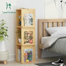 Модные книжные футляры в стиле Луи, современные, простые, деревянные, посадочные, для гостиной, многоэтажные, креативные, офисные