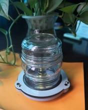 24 V הימי סירת יאכטה הנורה ניווט אור פלסטיק כל סיבוב 360 תואר עוגן מנורה אדום/ירוק/חם לבן