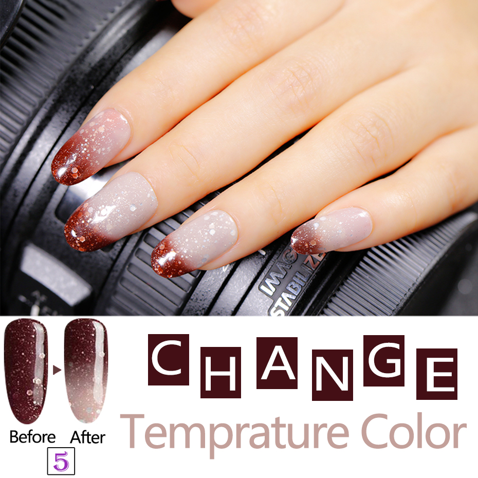 Soulmuchy Beauty Good Quality Color Chaning Nail Gel Polish Chameleon Temperature Uv Led Soak Off