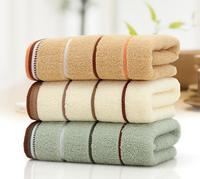 Towel 100% Cotton Plain Dyed Plain Woven Striped Towel