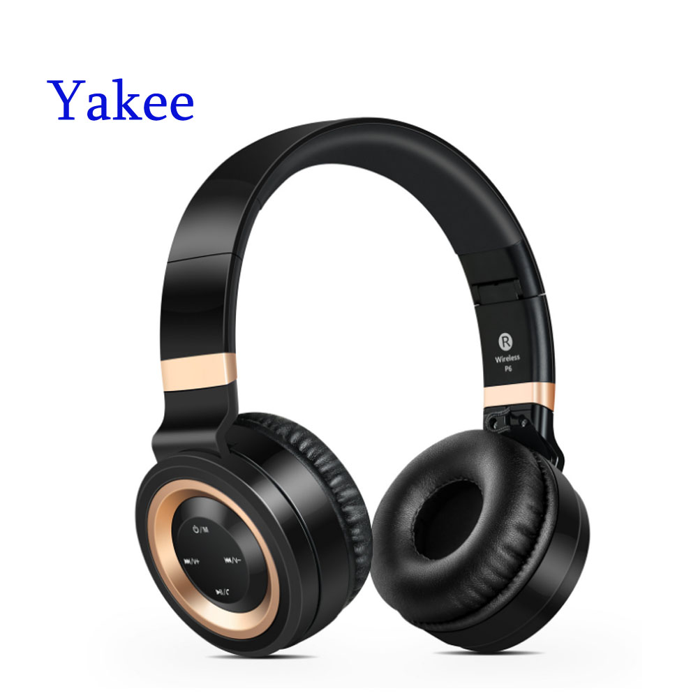 Yakee Wireless Headsets Bluetooth 4.0 Headphones with Microphone Support TF Card FM Radio for MP3 Cellphones lexin 2pcs max2 motorcycle bluetooth helmet intercommunicador wireless bt moto waterproof interphone intercom headsets