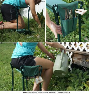 Image 2 - A, nueva gran oferta multifuncional plegable jardín Kneeler y asiento con 3 Bonus Tool Pouches teniendo 150KG