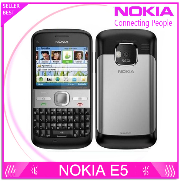 Free Shipping Original Unlocked Nokia E5 5MP Camera 3G network Russian keyboard Russian languge cell phones