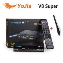 Оригинальный V8 супер DVB-S2 Спутниковые антенны с USB Wi-Fi Поддержка powervu Biss ключ cccamd Newcamd Youtube Youporn Декодер каналов кабельного телевидения