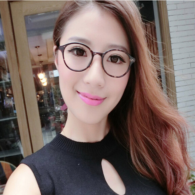 5c48eaa956 Retro thin Metal Frame metal temple round eyeglasses frame stylish basic  fashion women glasses frames Spectacles
