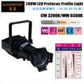 TP-013 200 watt Warm Weiß 3200 karat Led COB Vorfokus Profil Licht Truss Hängenden Hintergrund Projektor Aluminium 19/26 /36/50 grad
