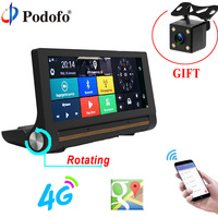 Podofo Car DVR Camera Mirror Android GPS Dashcam 7 84 Touch ADAS Remote Monitor Rearview Camera