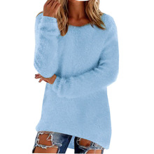 Mode Frauen Langarm Strickpullover Lose Pullover Jumper Tops Strickwaren(China)