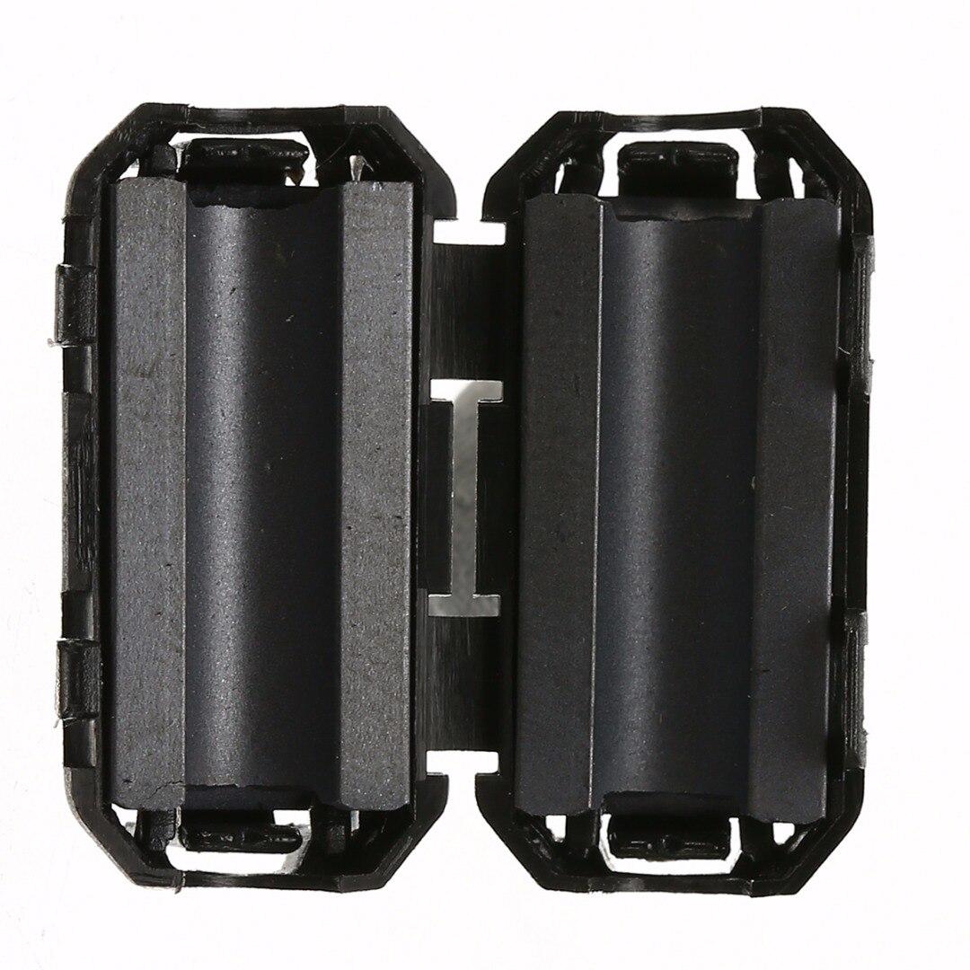 5pcs 3.5mm Black Ferrite Core Filters Nickel-zinc Noise Suppressor EMI RFI Clip Choke Ferrite Filter