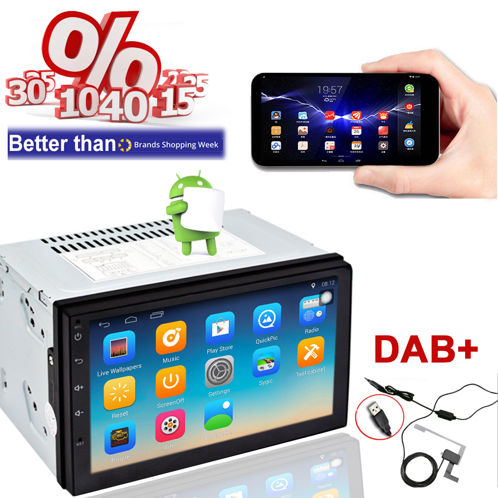 new android dab auto radio 2 din gps car stereo multimedia. Black Bedroom Furniture Sets. Home Design Ideas