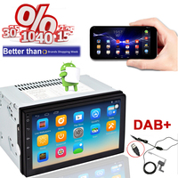 NEW android dab auto radio 2 din GPS car stereo multimedia center with navigator bluetooth 1024*600 Automagnitol free shipping