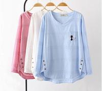 פרחים נשי חולצות blusas נשים שרוול ארוך בתוספת גודל חדש tees חולצות חולצות הולו מתוך לבן בסיסית רופפת חולצת טי בסוודרים 4XL