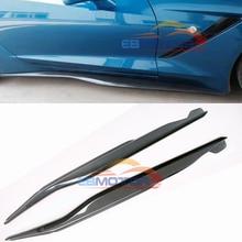 Реальные углеродного волокна боковые юбки 1 пара для Chevrolet Corvette C7 до Stringray T061