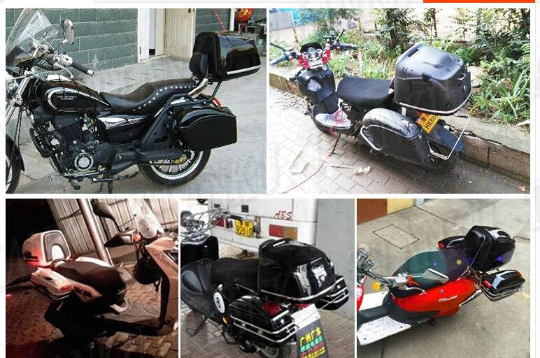 Merveilleux Universal Motorcycle Matte Black Hard Tail Box Storage Trunk For Street Bike  Dual Sport Bike Chopper Custom Cruisers Bike ATV In Motorcycle Trunk From  ...