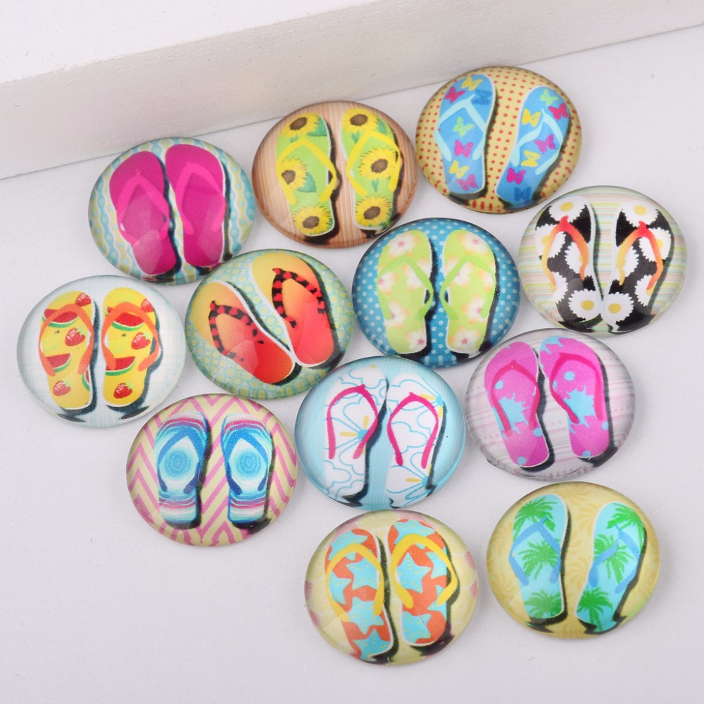 reidgaller handmade mix sandals photo round glass cabochon 10mm 12mm 14mm 18mm 20mm 25mm diy earrings hair jewelry accessories