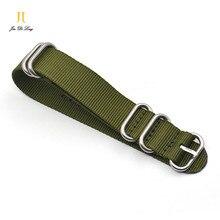 1 UNIDS de alta resistencia correas de nylon 20mm 22mm 24mm Nylon Reloj banda de LA OTAN correa zulu correa de reloj correa de hebilla anillo-BD086