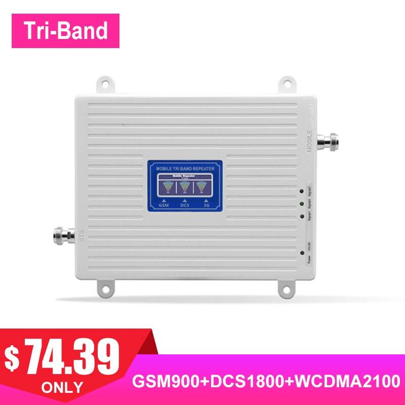 TriBand 2G 3G 4G LTE FDD UMTS 900 1800 2100 répéteur de Signal de téléphone portable GSM DCS WCDMA amplificateur de Signal de Communication Internet/