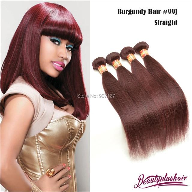 4pcs lot burgundy human hair extensions cheap brazilian straight 4pcs lot burgundy human hair extensions cheap brazilian straight remy hair weaves 99j red wine color pmusecretfo Gallery
