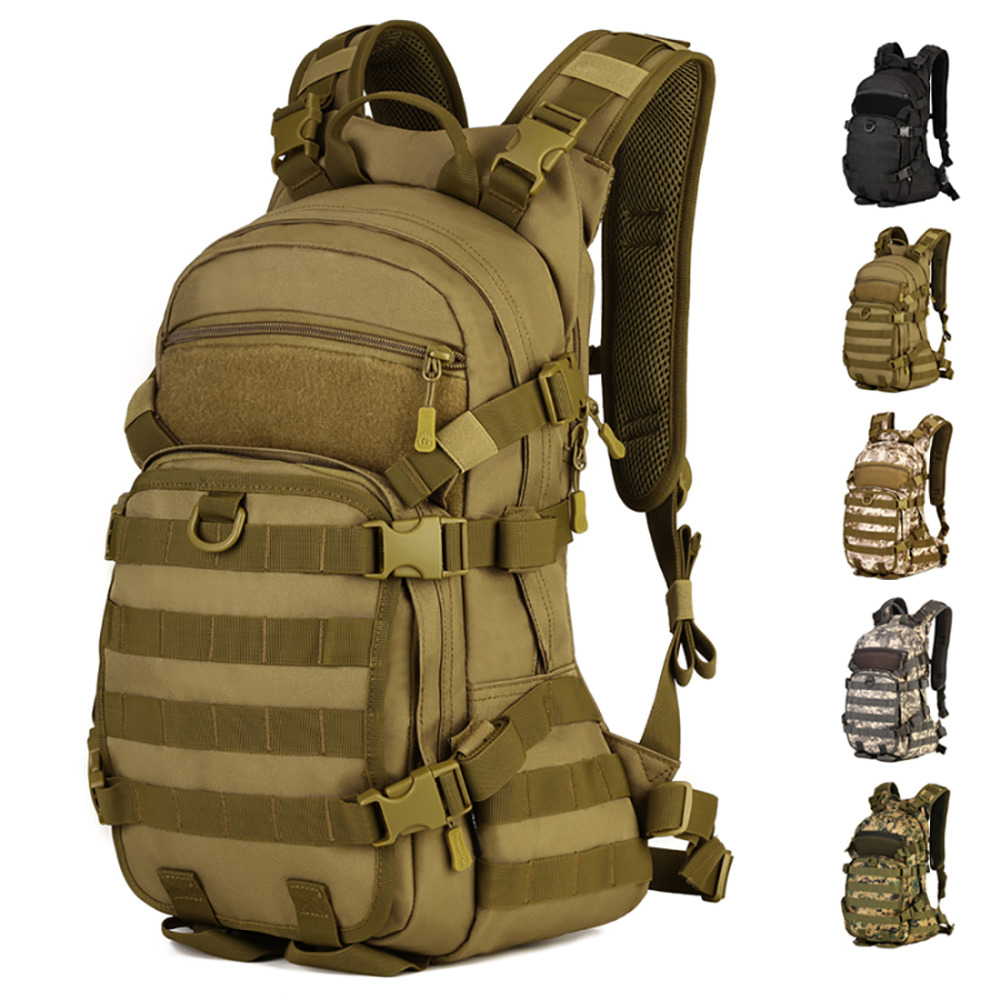 Men s Nylon 25L Large Capacity Backpack Military Molle Daypack Laptop Bag High Quality Male Knapsack