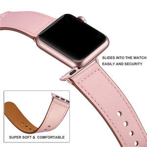 Image 4 - Echt Lederen Horloge Band Strap Voor Apple Horloge Serie 4 3 2 1 42Mm 44Mm, viotoo Vrouwen Luxe Lederen Horloge Band Voor Iwatch