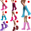 Original 1pair Doll Shoes Fashion Cute Assorted shoes for Barbie Doll et002
