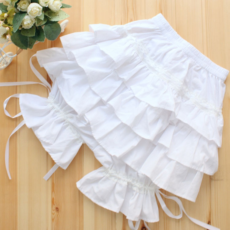 Sweet Layered Lolita   Shorts  /Cosplay Bloomers with Ruffles