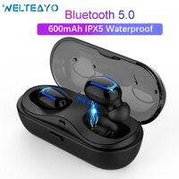 Tüketici Elektroniği'ten Bluetooth Kulaklık & Kulaklıklar'de Q13S TWS Kulakiçi Bluetooth 5.0 Kulaklık kablosuz kulaklıklar Gerçek Stereo Kulaklık Handsfree Su Geçirmez Kulaklık Ile Şarj Kutusu