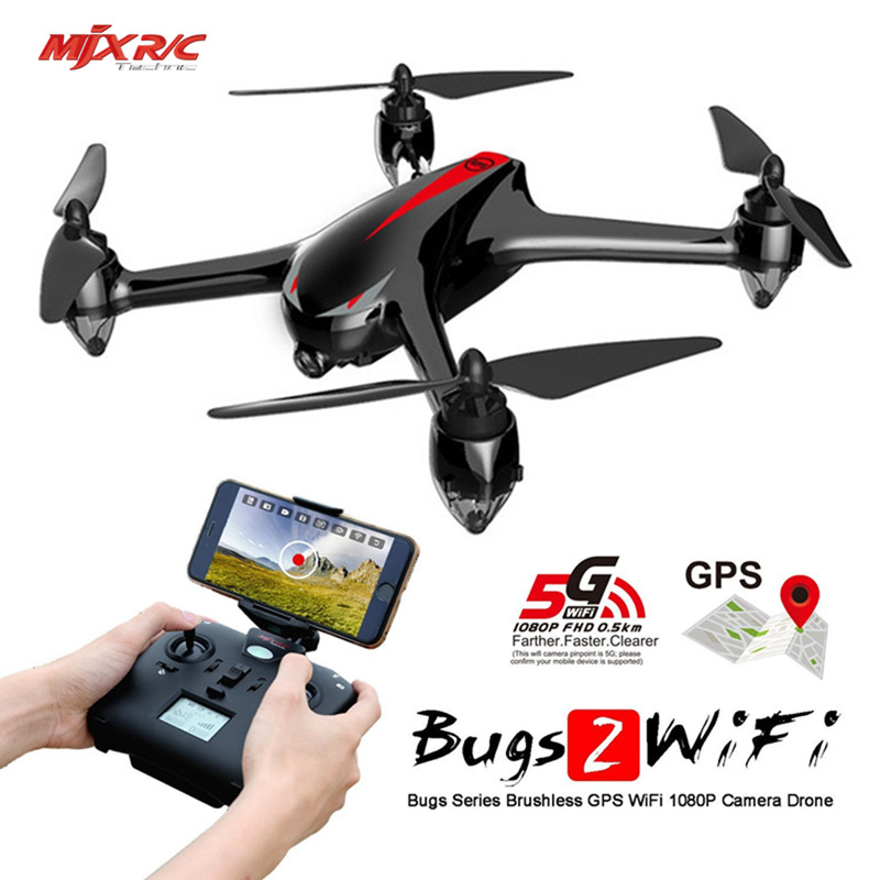 MJX B2W Bugs 2 GPS Brushless RC Quadcopter Drone With 5G WIFI FPV 1080P HD Camera Altitude Hold Headless Aircraft Toy Vs Bugs 3