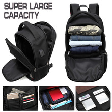 Business Backpacks Men boys Super ultra large capacity USB headphone coded bags male Travel School  17.3 inch laptop bag pack