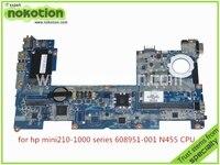 DANM6DMB6D0改訂dノートパソコンのマザーボードhpミニ210 2102 608951-001 cpu n455 atom 1.66 ghz ddr3のみボードをテストし