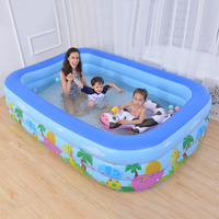 New Arrival Children's Home Use Paddling Pool Large Size Inflatable Square Swimming Pool Heat Preservation Kids inflatable Pool