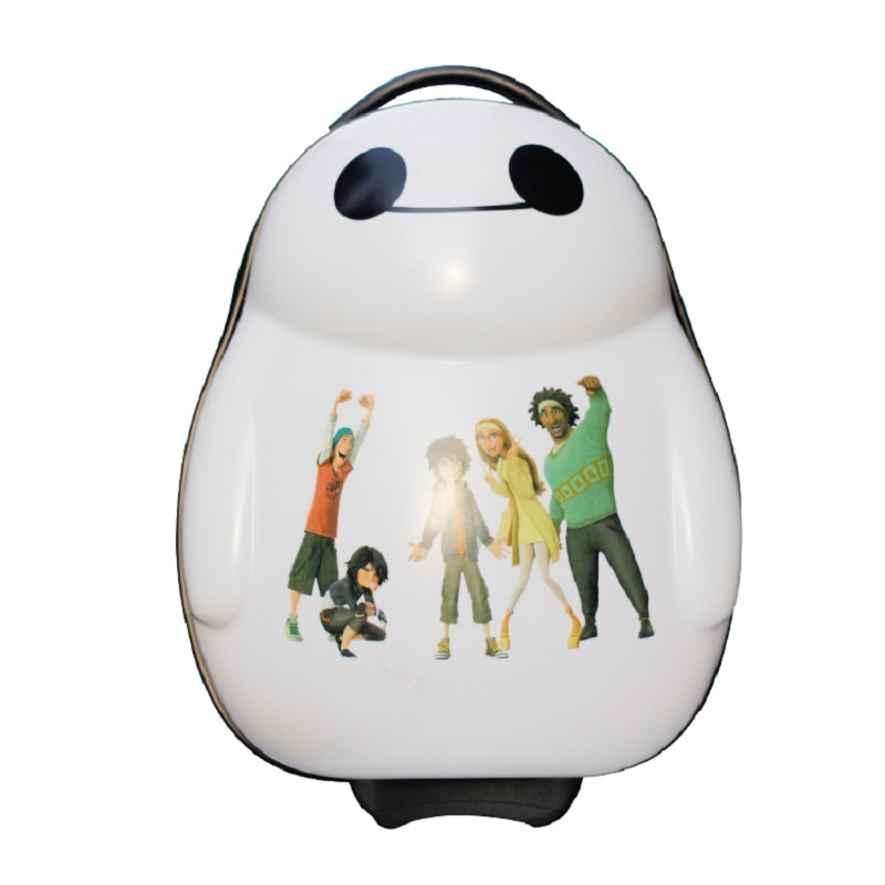 17 Zoll Hohe Qualität Baymax Cartoon Kinder Reise Junge Studenten Big Hero 6 Tourismus Gepäck Kind Koffer Boy Anime Trolley Fall