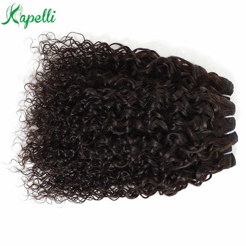 Mongol jerry encaracolado 3/4 pacotes 8-30 Polegada 100% extensão do cabelo humano cor natural não remy cabelo tecer pacotes frete grátis