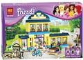 Nueva Original 10166 BELA Chicas Amigos HeartLake City School Building Block Sets 489 unids Ensamblar Ladrillos juguetes S231
