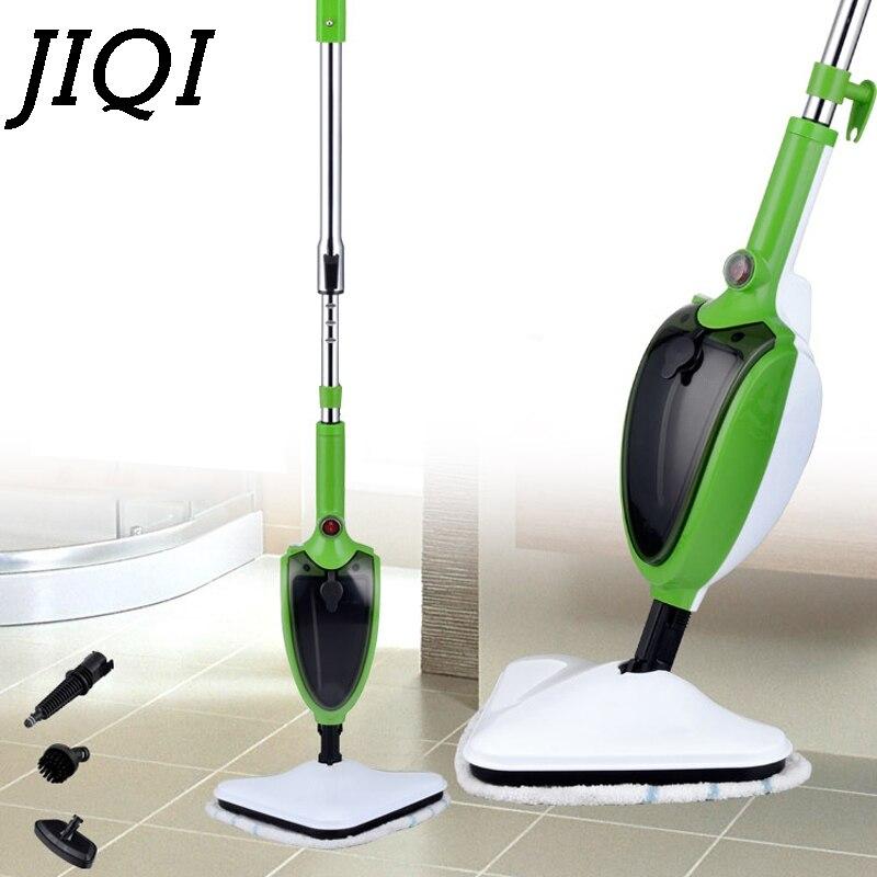 JIQI 1200W Multifunctional Steam mop High temperature sterilization Household mite removal Steam cleaner 220V EU plug