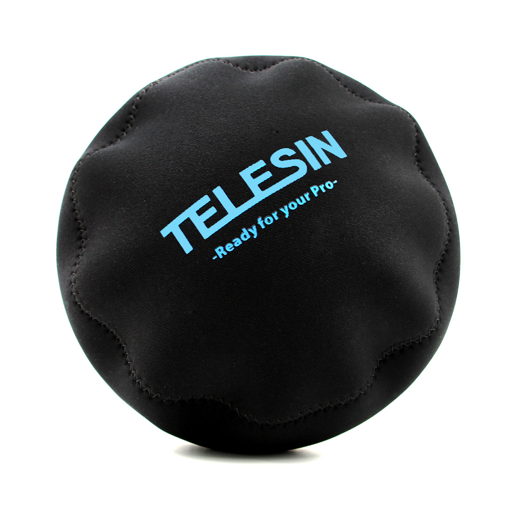TELESIN Protective Dome Bag Soft Protect Cover for all TELESIN Dome Port for GoPro Hero 3/3+, Hero 4, Hero 5 and Xiaoyi 4K hero