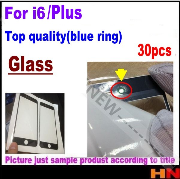30pcs Top quality Front Outer Screen Glass Lens Replacement for iPhone 6 6p plus 4 7