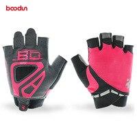 Boodun kapalı açık spor eldiven kadın cycing eldiven nefes elastik bisiklet eldiven yaz yarım parmak bisiklet eldiven luvas