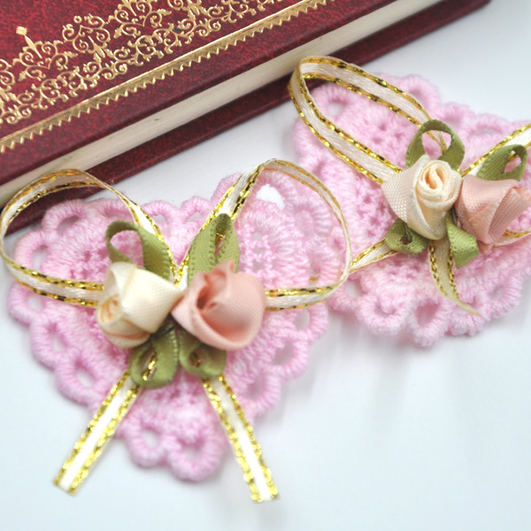 10PCS Ribbon Flowers Bows Padded Appliques Wedding Decor Lots Mix A297