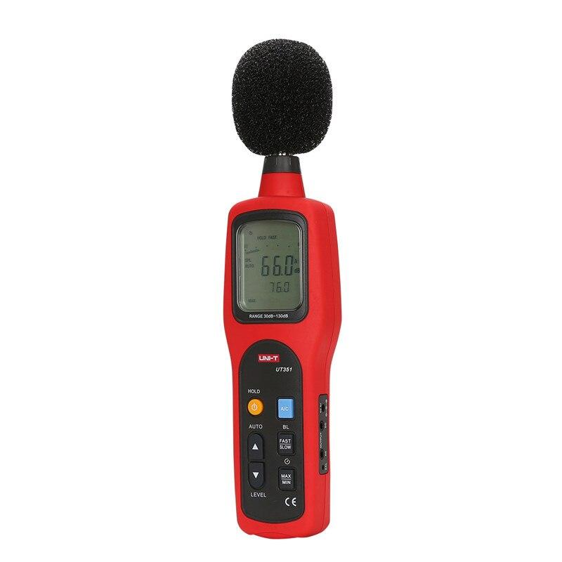 UNI-T UT351 digital display decibel sound level meter noise db meter measuring 30 To 130dB noise meter az8928 digital sound level meter measuring range 40 130db digital noise meter