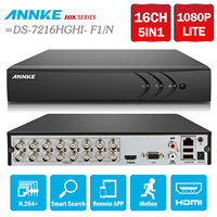 ANNKE 16CH 1080P Lite 1080N HD TVI H 264 DVR Supports Up To 1080P TVI Camera