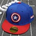 Canvas Unisex Kids Snapback Captain America Caps Cute Cartoon Flat Sun Hats Iron Man 3D Avengers Hip Hop Hat Child Baseball Caps