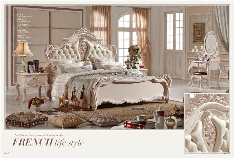 luxury french fancy antique design bedroom furniture sets 0409