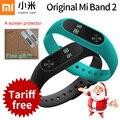 Original xiaomi mi banda 2 miband 2 com display oled touchpad inteligente pedômetro freqüência cardíaca aptidão bluetooth pulseira pulseira