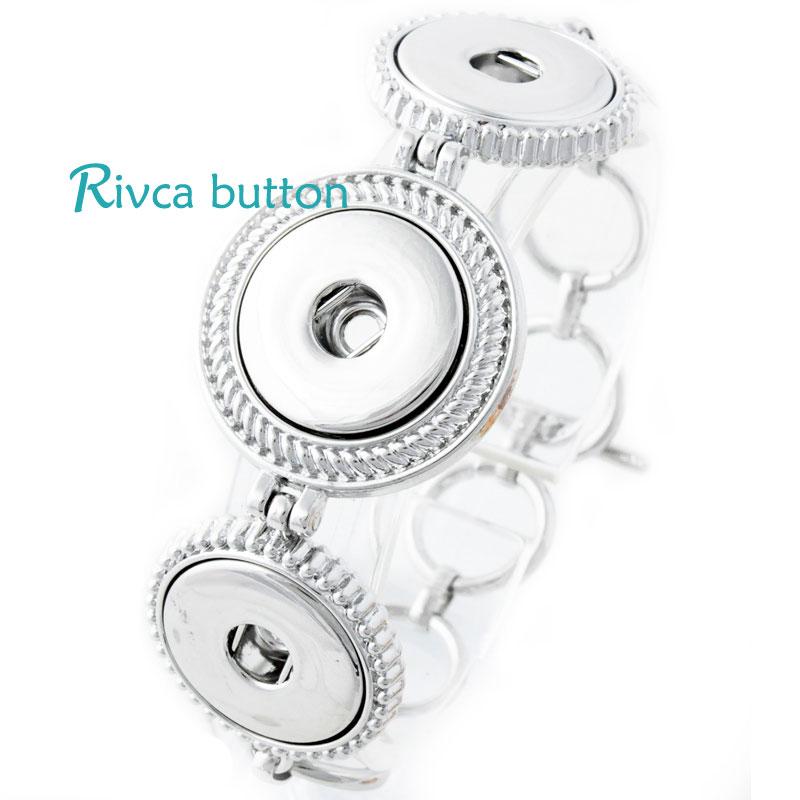 P00685 Wholesale Snap Button Bracelet&Bangles Chain Vintage Silver Plated Classic Bracelet For Lady Rivca Snap Button Jewellery