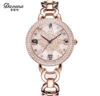 Novel Cutting Star Face Women Elegant Bracelet Watches Imported Quartz Starry Full Crystals Dress Wrist watch Montre femme 3ATM
