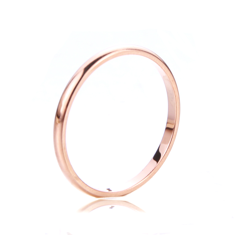 Titanium Steel Simple Fashion Anti-Allergic Couple Ring Stainless Steel Fine Jewelry Men And Women Party Fashion Gift Pakistan