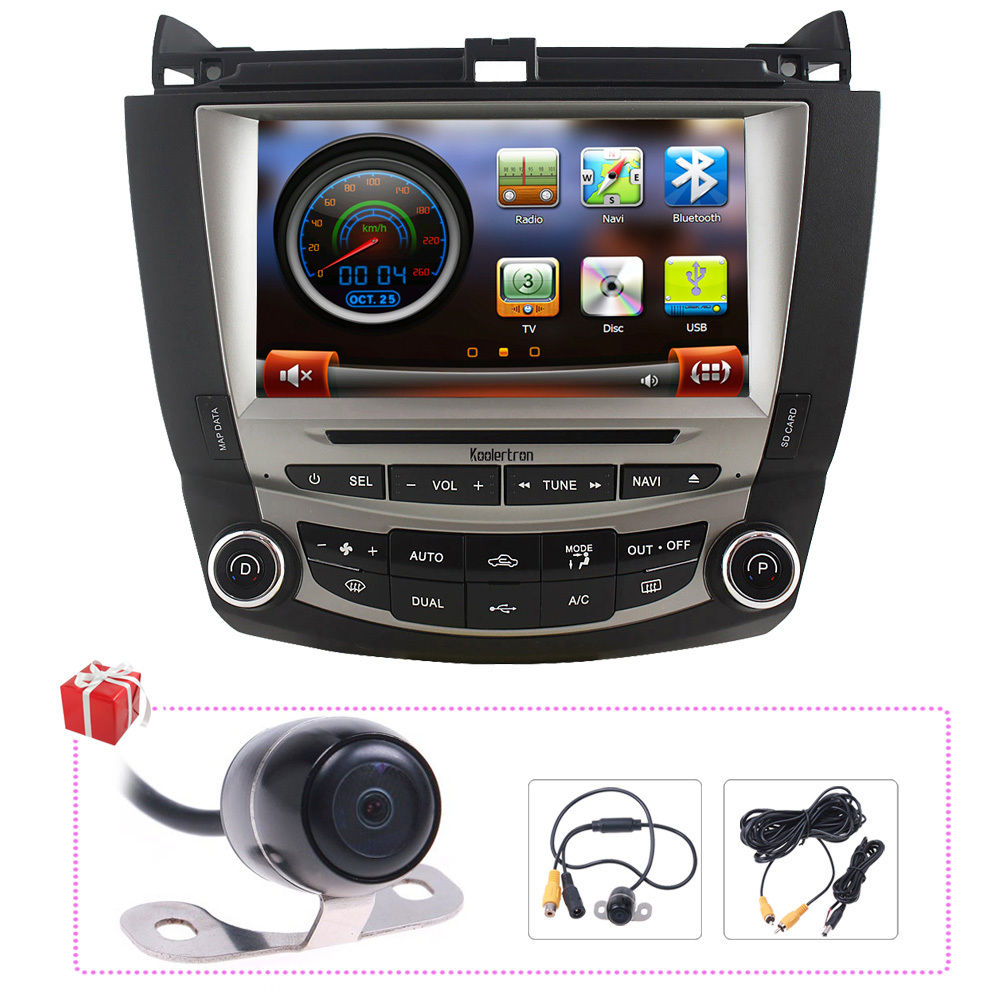 Koolertron Free Camera Map Indash 8 Autoradio Dvd Gps Navigation Stereo Satnav Headunit For Honda Accord 2003 2007