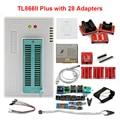 100% XGECU Original V9.00 TL866II Plus programador Universal Minipro + 28 adaptadores + Clip de prueba TL866 PIC Bios programador de alta velocidad